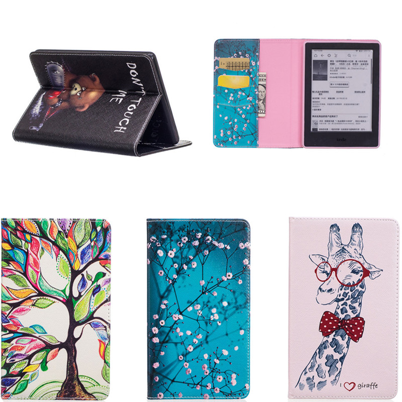 For All-New Kindle 8th generation 2016 Release e-Reader PU Leather Wallet With Card Holder Book Case  Cover With Soft TPU Back 1 pcs diy car styling new pu leather free punch with cup holder central armrest cover case for ford 2013 fiesta part accessories