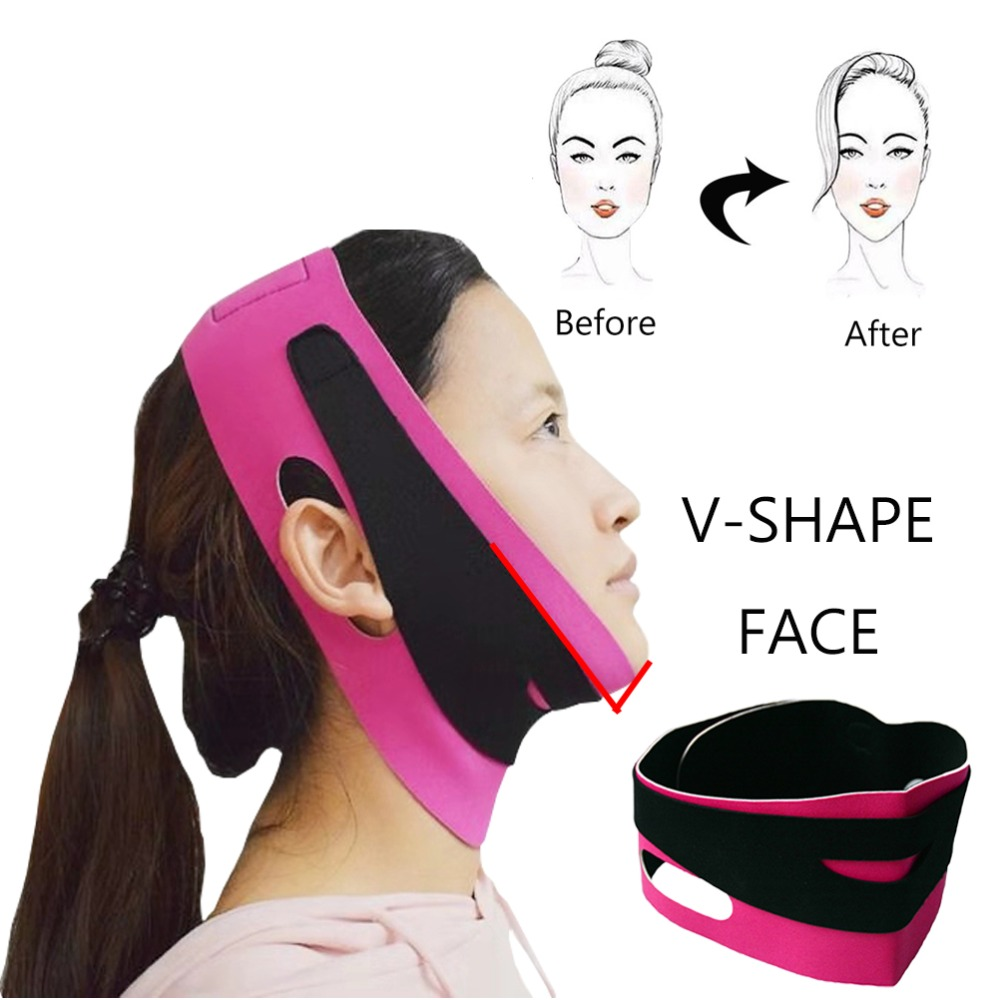 2019 Facial Slimming Mask V-shaped Face Slimming Bandage Belt Mask Skin Care Tools Reduce Double Chin Face Lift Up Belt For Lady