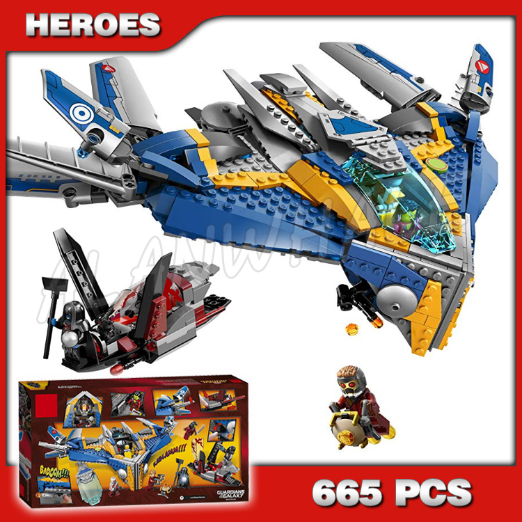 665pcs Super Heroes Guardians of the Galaxy Milano Spaceship Rescue <font><b>10251</b></font> Assemble Building Blocks Gamora Compatible with <font><b>Lego</b></font> image
