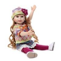 Gorąca Sprzedaż 18 Cal American Girl Doll Pełna Silikon Księżniczki Lalki Wzrost Jakości Dziewczyny Zabawki