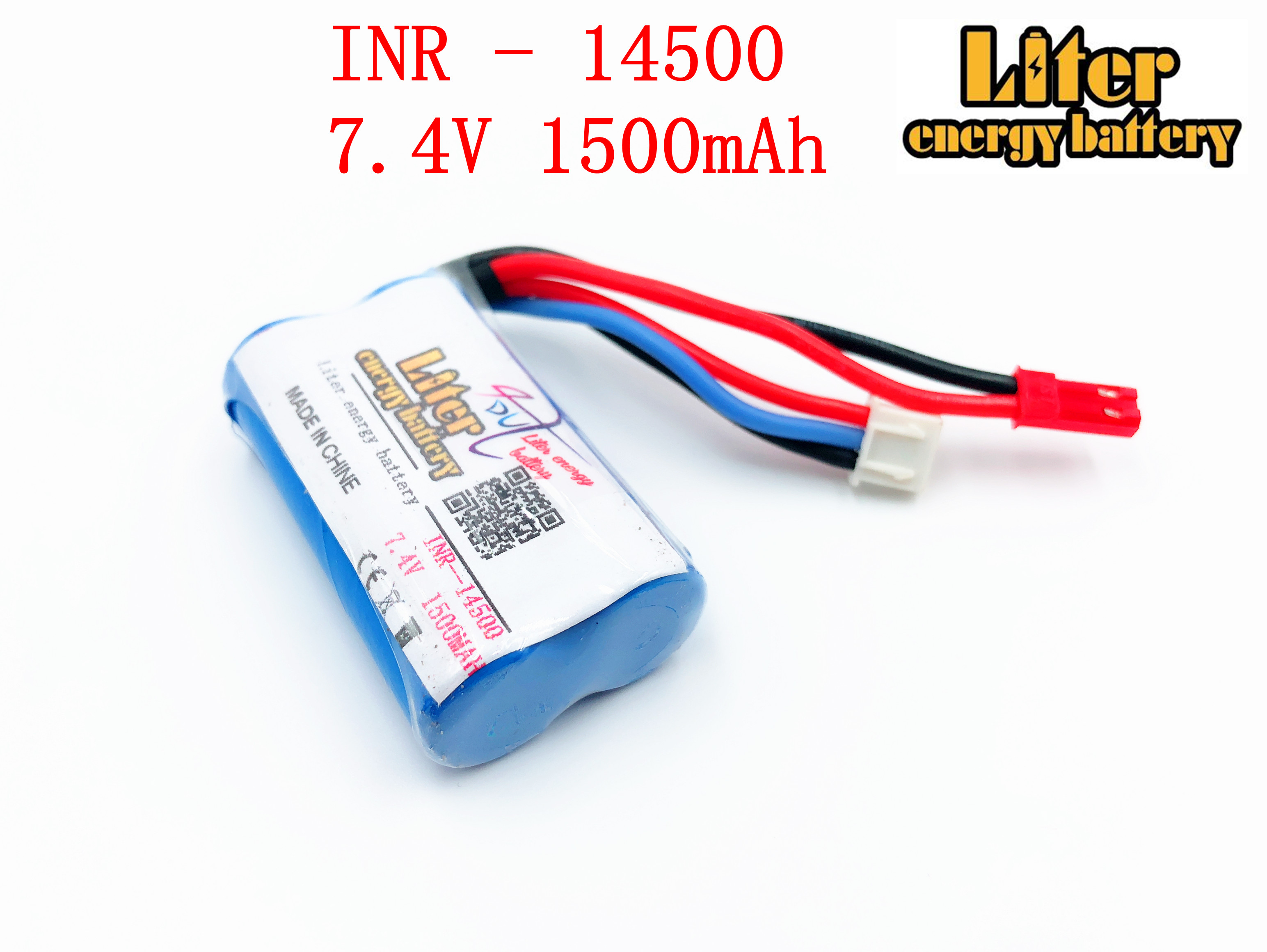 18650 7.2V 14500P Liter energy battery <font><b>14500</b></font> battery pack 2S1P 7.4V 1500mAh with pcb image