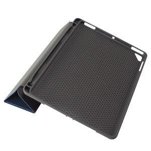 Image 4 - Ultra Slim קל משקל חכם כיסוי מגן Stand מקרה עם אפל עיפרון מחזיק עבור iPad פרו 10.5 2017 A1701 A1709 Tablet