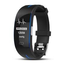 RUIJIE P3 Smart Band ECG + PPG Tekanan Darah Pengamatan Kadar Jantung IP67 Waterpoof Pedometer Fitness Tracker Gelang Sukan