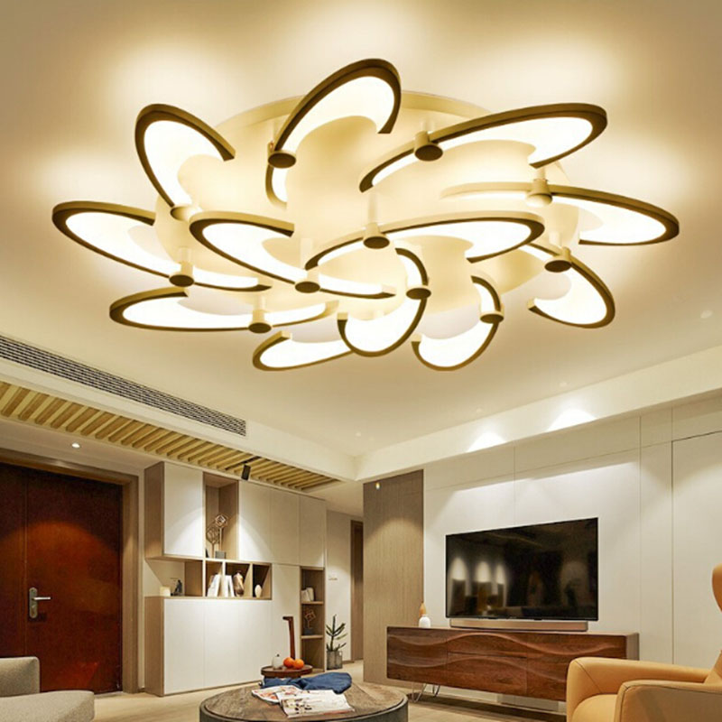 Modern Acrylic Design Ceiling Lights Bedroom Living Room Ceiling Lamp LED Home Lighting Light Fixtures plafonnier modern led living room ceiling lamp acrylic ceiling lights creative bedroom dining room home lighting fixtures plafondlamp lumin