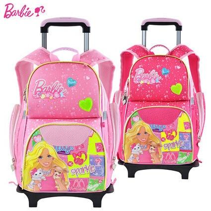 Genuine Barbie School Bags For S Randoseru Kids Trolley Bag And Backpack Bookbags
