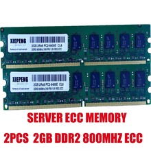 4 GB \u00282x2 GB\u0029 DDR2 800 MHz ECC per workstation Server PC2-6400E