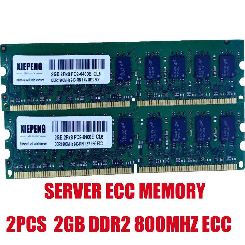 Mémoire ECC de serveur de PC2-6400E DDR2 800 MHz de 4 go (2x2 go) pour poste de travail