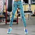 Sporting GERTU Verão Leggings Mulheres Skinny Elastic Patchwork Sportes Leggings de Impressão 2016 Calças de Fitness Roupas Para Mulheres