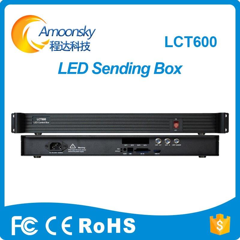 Amoonsky AMS-LCT600 Support MSD600 Sending Card Outer LED Display Sending Controller Box similar mctrl600 sender box novastar mctrl660 led display controller led sending card box msd300 msd500 msd600