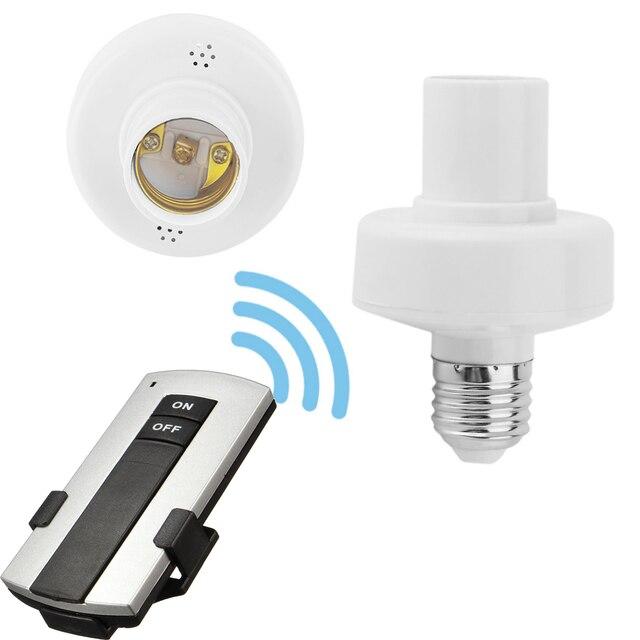 Control remoto E27 bombilla de luz titular de la Base de la hembra e27 tornillo/interruptor de Control remoto 315 mhz soporte para hogar inteligente de la vida