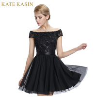 Sexy See Through Back Lace Cocktail Dresses Party Dress Cap Sleeve Ladies Mini Tulle Special Occasion