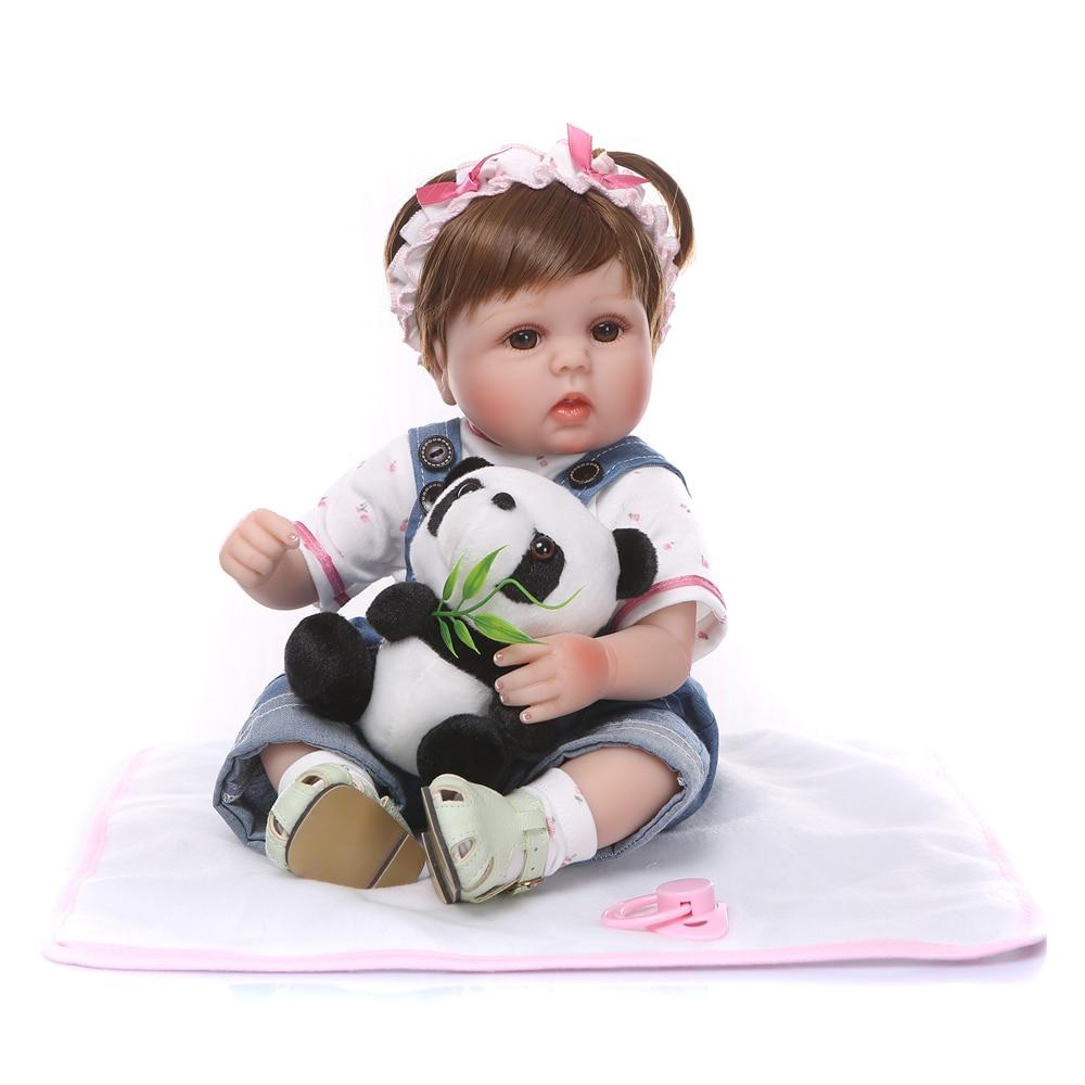 NPK 18inch 42cm Newborn Dolls Lifelike Reborn Dolls Babies Not Full Body Silicone Bebe Reborn Birthday Gift For Girls Kids Toy-in Dolls from Toys & Hobbies    1