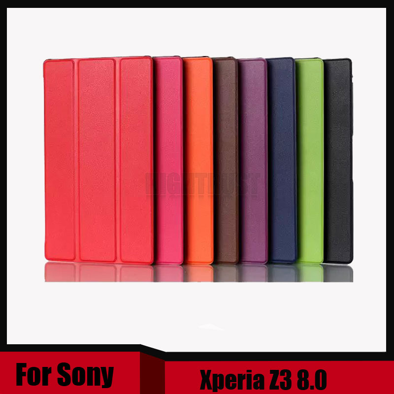 For sony z3 case Magnetic Smart PU leather Case cover For Sony Xperia Z3 Compact tablet cover cases + screen protectors as gift sony dk48 magnetic charging xperia z3 z3 compact