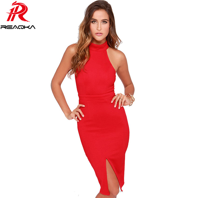 b221ea807eb2 Europe Sexy Women Turtleneck Halter Dress 2018 New Off The Shoulder Fashion Dresses  Womens Red Large Size XXL Club Dress Party