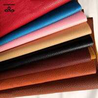 QUANFANG Solid color Imitation leather sofa cloth Pu Leather Faux embossed leather, Faux Leather Fabric for Sewing,Half meter