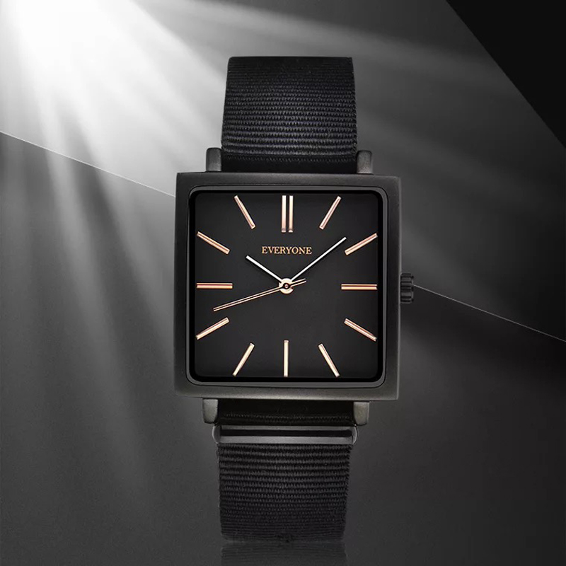 Nylon strap Fashion Clock Men Watch Top Brand Luxury Quartz Rose Gold Scale Male Sport Watches Reloj Hombre Relogio Masculino reloj hombre pagani design sport leather strap watches men top brand luxury multifunction quartz watches clock relogio masculino