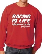цена Racing is Life-Steve McQueen Le Mans 24HR Quote Sweatshirt/Jumper More Size and Color-E205 онлайн в 2017 году
