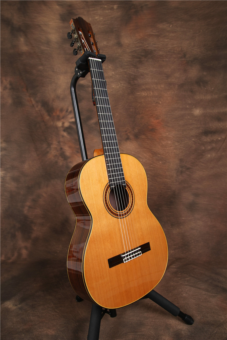 professional handmade 39 inch full solid acoustic classical guitar with cedar top solid. Black Bedroom Furniture Sets. Home Design Ideas