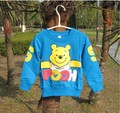 New ! 1pcs baby boys girls cartoon bear Children Summer Wea cotton long sleevesT-shirts kids sweatershirts