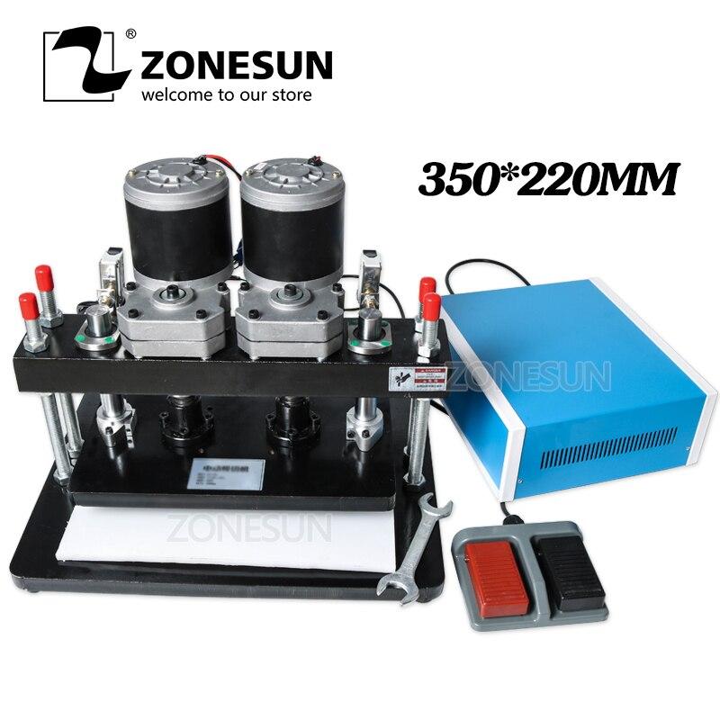ZONESUN 35x22cm électrique en cuir Machine de découpe Photo papier moule Cutter outil de découpe pour Clicker cuir découpe Die
