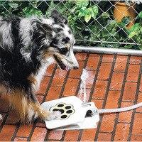 Aço Inoxidável Fonte do animal de estimação Grande Cão Alimentador Da Água Potável Para O Cão Cão de Estimação Beber Dispensador Automático de Auto-ajuda Pedal 35