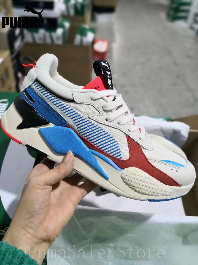 0f7fcca5e279 ... PUMA RS-X Reinvention Whisper White-Red Blast Men Women Badminton Shoes  369579- ...