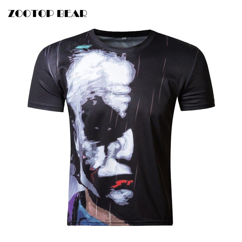 Batman Joker 3d t-shirt drôle visage caractère joker Marque clothing 3d t-shirt d'été style t-shirts Badass top imprimer ZOOTOP OURS