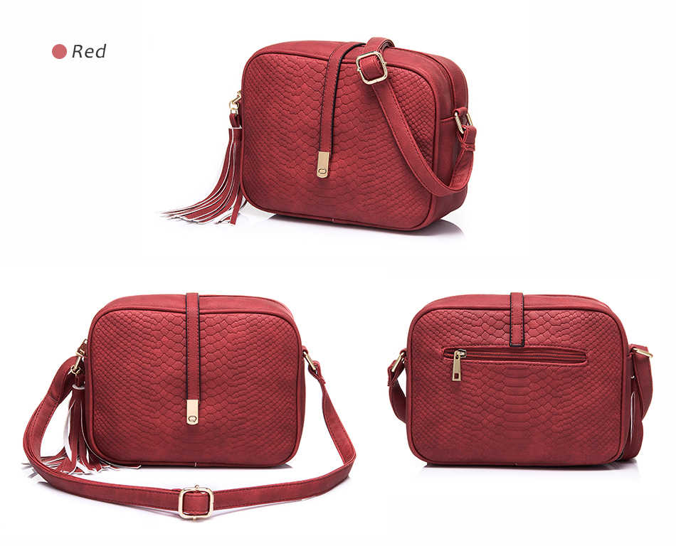REALER brand small shoulder bag for women messenger bags ladies PU leather handbag purse tassels female crossbody bag women 2019 17