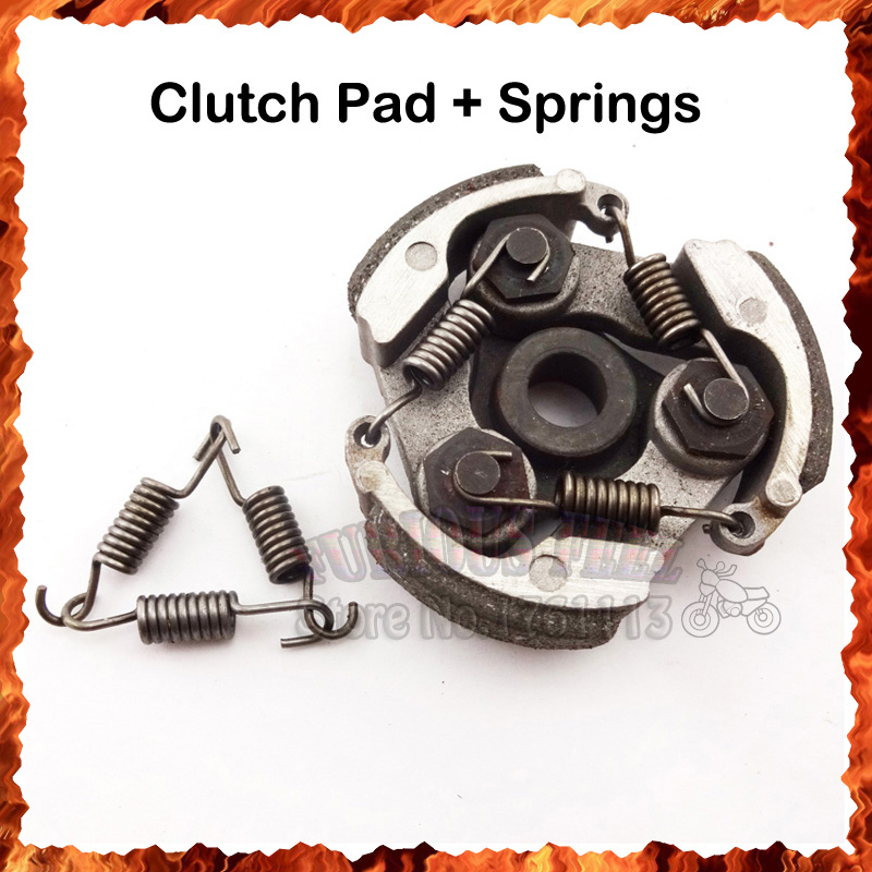 Pocket Bike Clucth Pads Springs No Keyway For 2 Stroke 47cc 49cc ...
