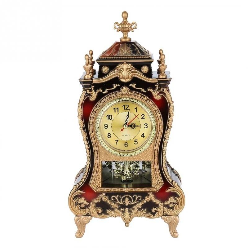 Table Clock Vintage Style Plastic