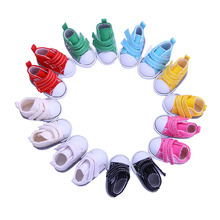 8 colors 5CM Fashion Denim Canvas Mini Toy Shoes 1/6 Bjd For Tilda Doll,Doll accessories