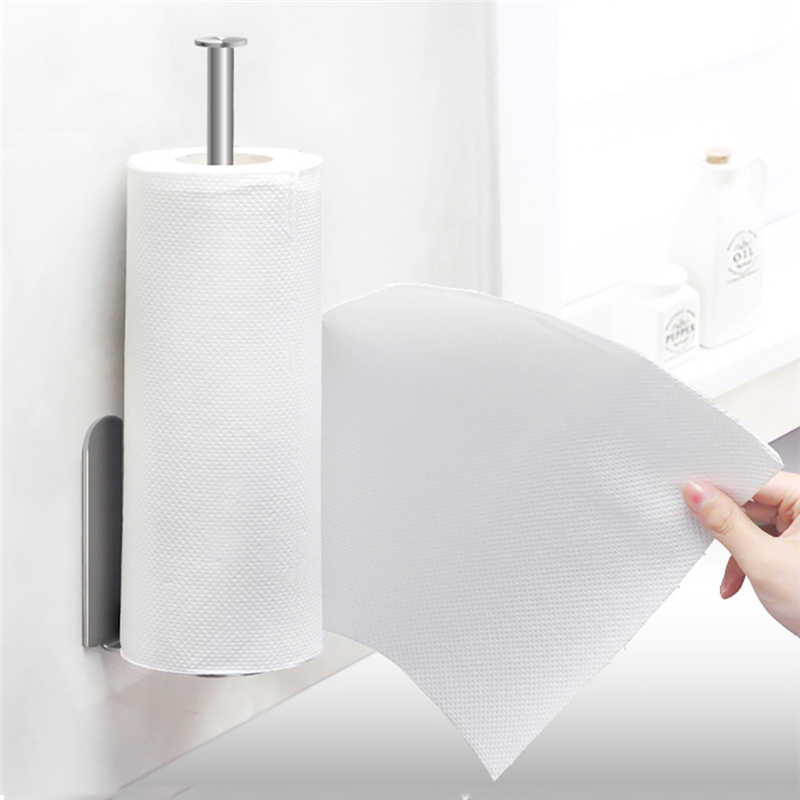 Image 3 - Creative High Quality Paper Towel  Storage Rack Vertical Diversified Holder Wall Mount Paper Holder Storage Rack-in Storage Holders & Racks from Home & Garden