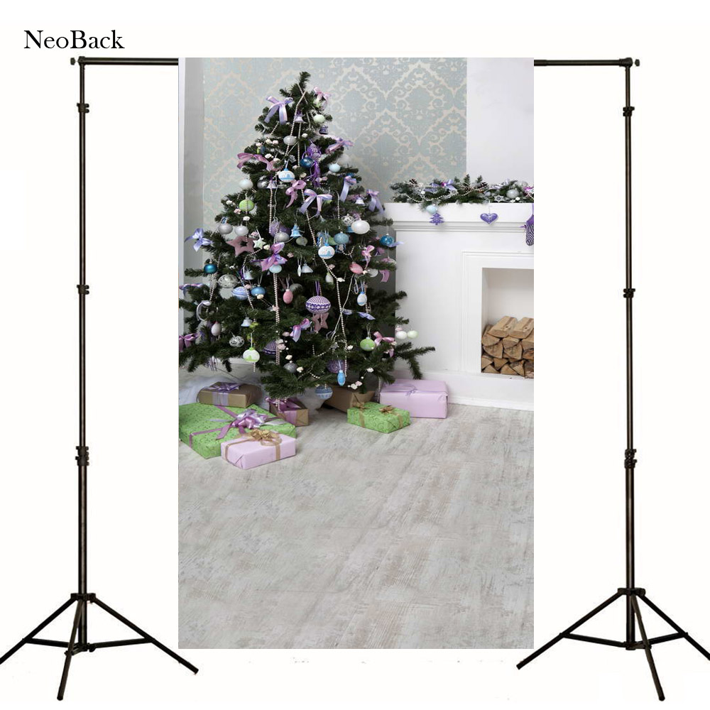 2017 Poly Vinyl photo Digital Printed New Born Baby Photography Backdrops Christmas Fire place Backgrounds Photo studio P1066