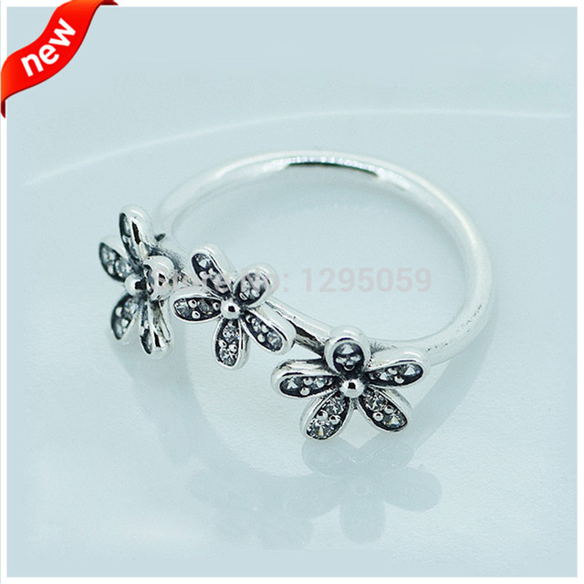 Fits European Style Jewelry Daisy Silver Rings for Women 925 Sterling Silver Fashion Jewelry Wholesales FLR15037