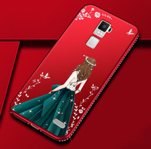 For Oppo R7 Plus TPU Case 3D Painted Goddess Rhinestone Soft Silicone Case  for oppo r7 6c572f14de1c
