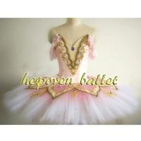 High Quality Professional Custom Made Sleeping Beauty Ballet Dress Gradient Color Pink Pirate Ballet DressTutus HB196