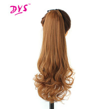 Deyngs 22inch Ombre Drawstring Ponytail Hair Extension Long Wavy Synthetic Women Pony Tail Hairpiece Clip In Hair Heat Resistant