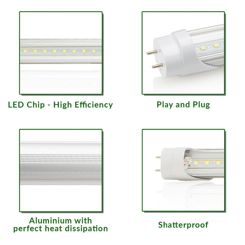 10pcs t8 led tube light 4ft 48 22w 6000k 2200 lumens without a ballast fluorescent replacement light lamp 2 sided connection in led bulbs tubes from  [ 1000 x 1000 Pixel ]