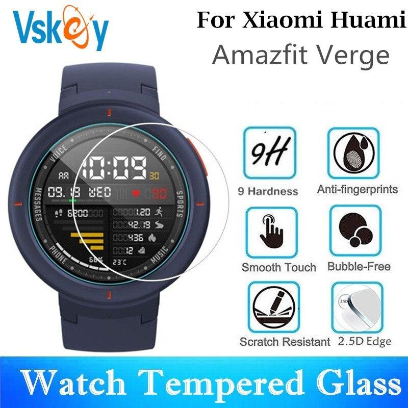 VSKEY 100 sztuk szkło hartowane dla Xiaomi Huami Amazfit granicy okrągły osłona na szybkę zegarka średnica 35mm folia ochronna|Ochraniacze ekranu|   - AliExpress