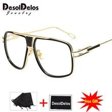 Popular Oversize Women Square glasses Brand Designer Fashion Men Transparent Frame Clear Lens Glasses 2019 Hot Sale