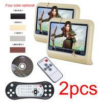 2pcs 9 Inch HD Monitor Car Headrest DVD Player Automotivo Multimedia Entertainment System With Slot In