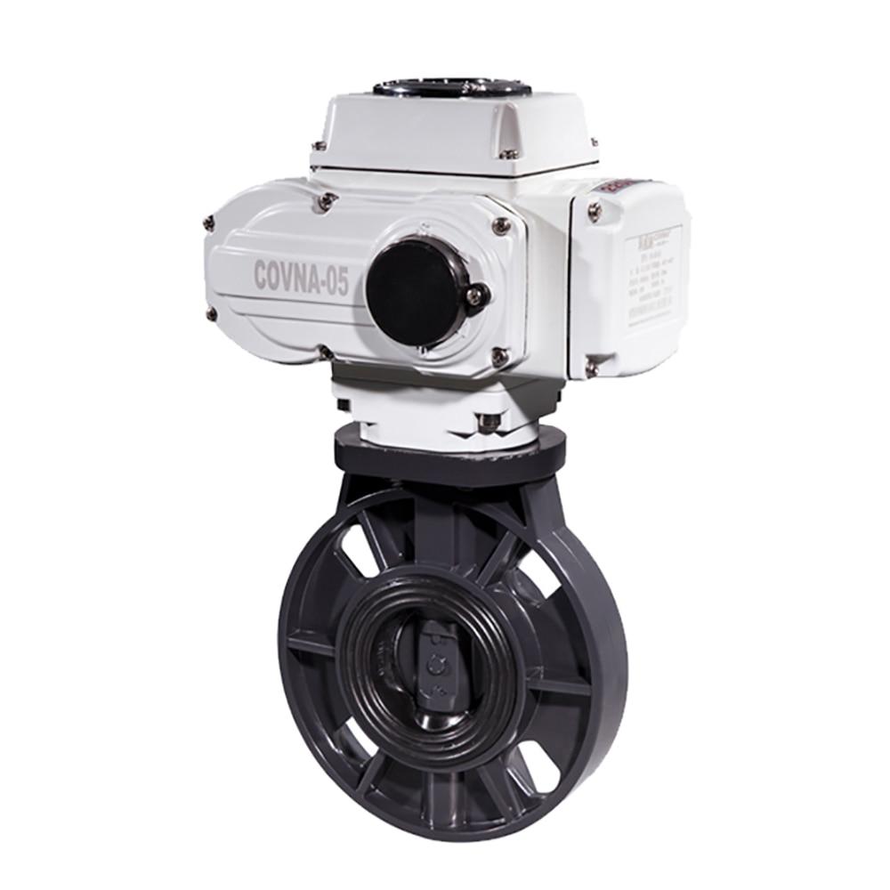 3 дюймовый ПВХ моторизованный клапан бабочка типа ВКЛ./ВЫКЛ. Пластиковый EPDM