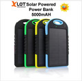 Solar Powerbank Banco de Potência Externo Portátil Carregador Solar Do Telefone Móvel Celular Bateria Powerbank 5000 mah Universal