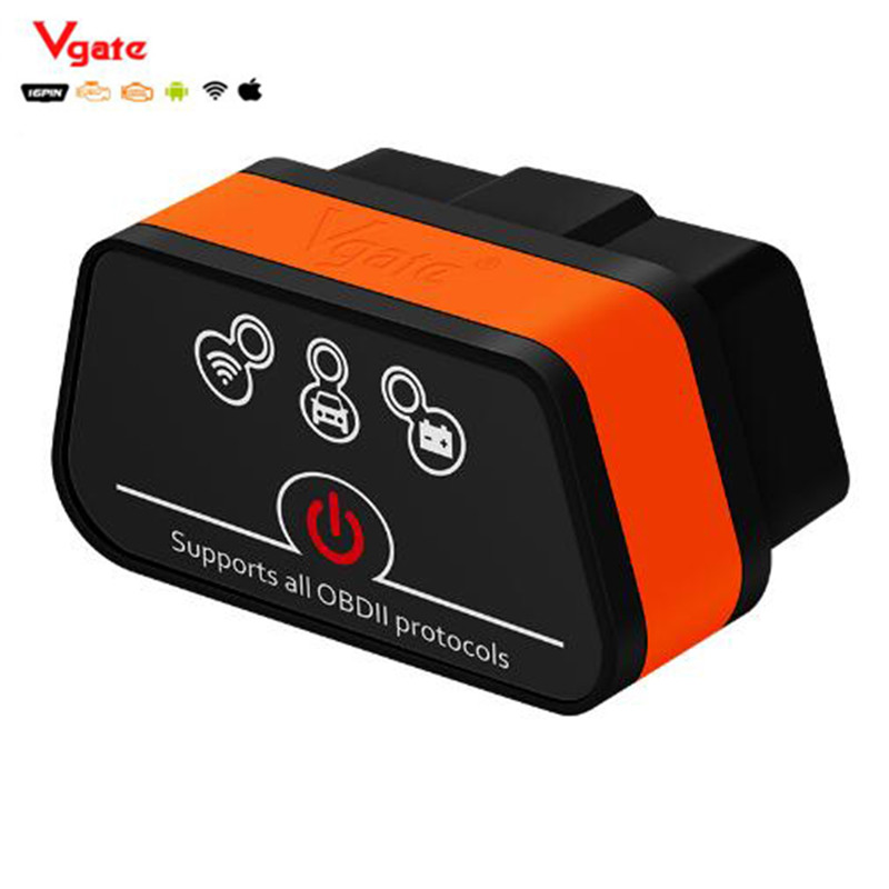 New Vgate iCar2 ELM327 Wifi OBD Scanner Bluetooth mini elm 327 obd2 Diagnostic-tool adapter for android/PC/IOS code reader