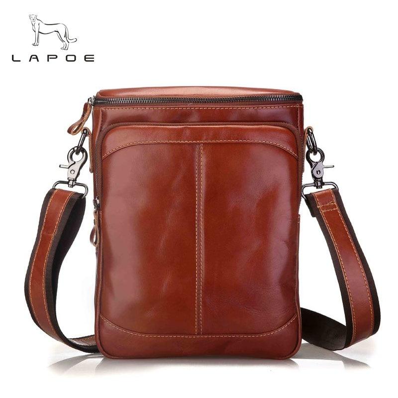 Men's Genuine Leather Bags male New Fashion men Crossbody bags Casual small Messenger bag men's shoulder bag for men leather все цены