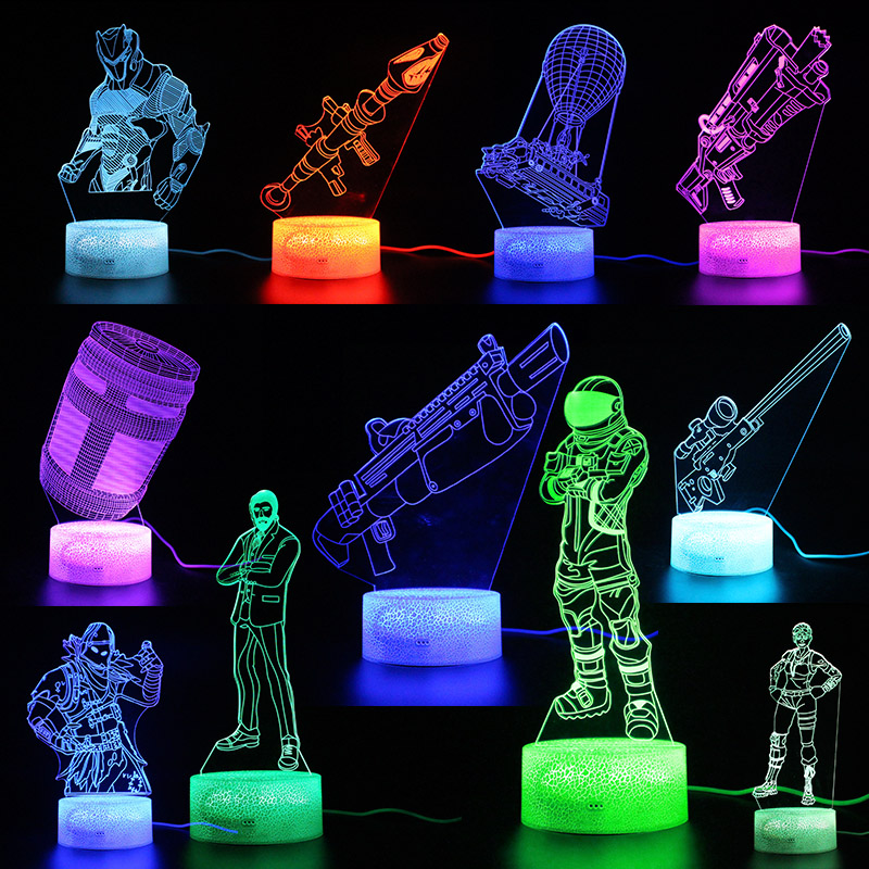 Light Illusion Battle Royale Lamps Remote Control Touch 3d Table Lamp USB Led Light Party Decoration Kids Night Light