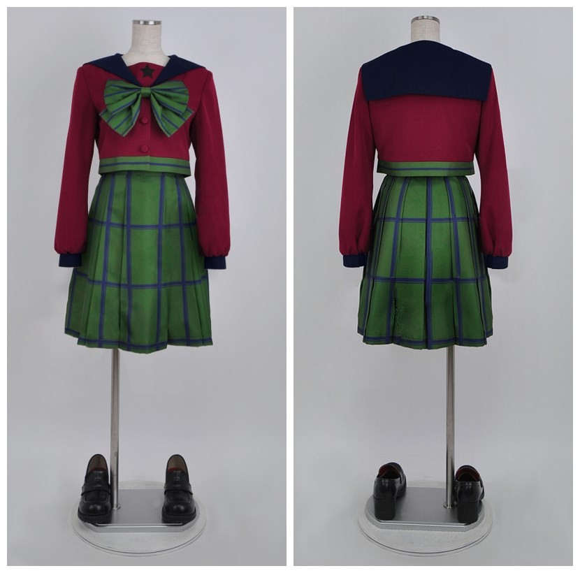 SuperS Sailor Moon Michiru Kaiou / Hotaru Tomoe Sailor Uranus mugen gakuen niñas uniforme de invierno vestido de cosplay disfraces de halloween