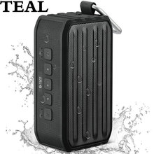 TEAL Waterproof IPX4 Portable Wireless Bluetooth 4.0 Subwoofer Speaker with Self-timer Card Reader Outdoor Speaker