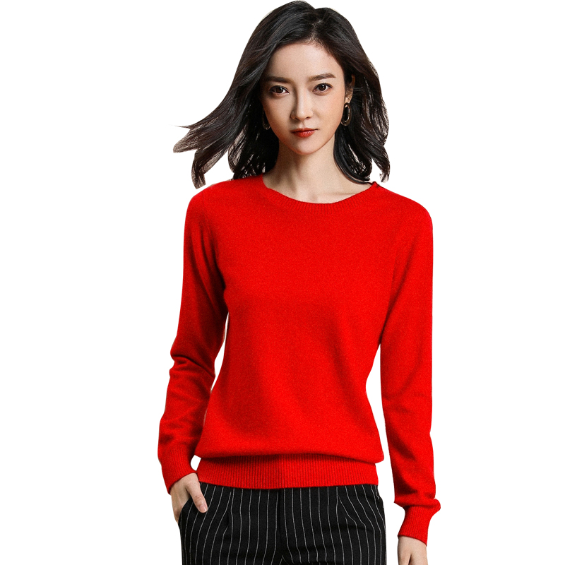 Merrilamb alta qualidade de malha suéteres feminino casual o-pescoço camisola fina feminino macio cor sólida manga cheia de malha pulôver
