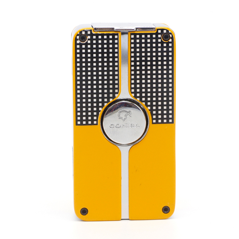 COHIBA Torch Jet Cigar Lighter  Windproof Cigarette Metal Butane Gas Accessories with Punch